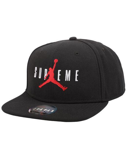 ef11750f Supreme Jordan 6 Panel Hat Black in Black for Men - Lyst