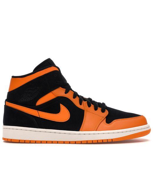 Nike 1 Mid Black Orange Peel for men