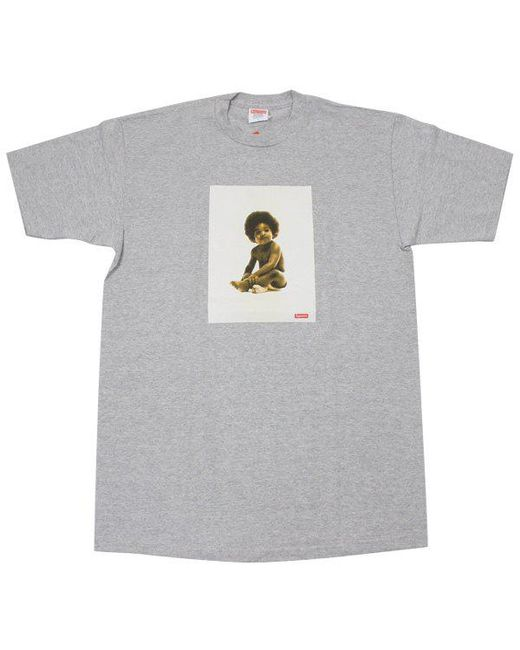 2ba91f07 Lyst - Supreme Biggie Tee Grey in Gray for Men