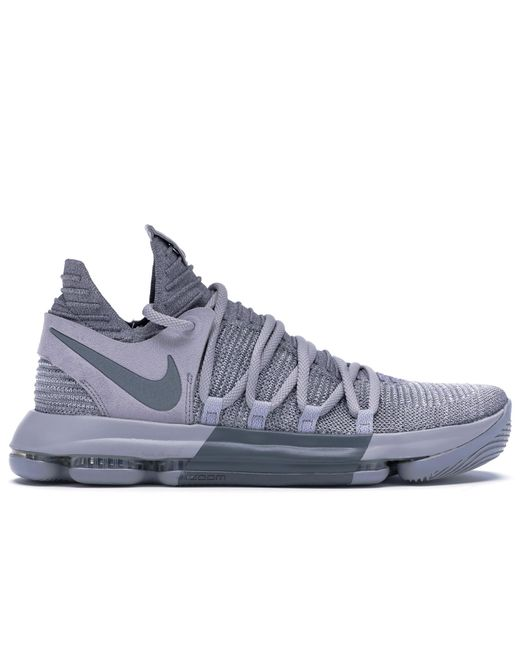 Nike Gray Kd 10 Wolf Grey for men