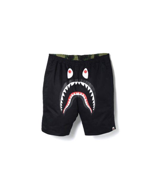 01ea0742 A Bathing Ape Reversible Shark Beach Shorts Black/green in Black for ...