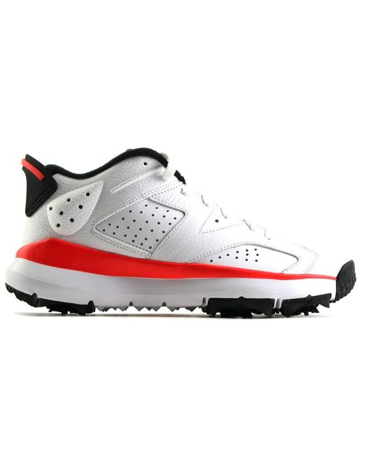 finest selection b73e4 6a822 Men's White 6 Retro Golf Cleat Infrared