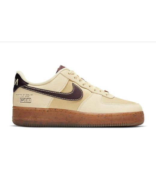 Nike White Air Force 1 Low Coffee for men