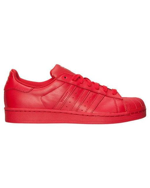 adidas superstar red color