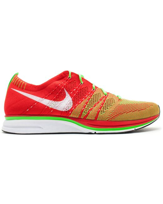 Nike Flyknit Trainer+ University Red Electric Green for men