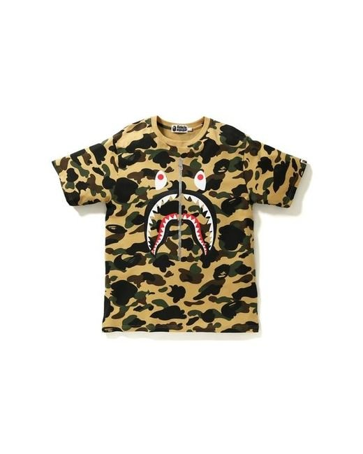 メンズ A Bathing Ape 1st Camo Shark Tee Yellow