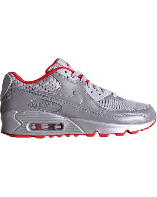 Nike Air Max 90 Air Attack Pack Metallic Silver Red For Men Save