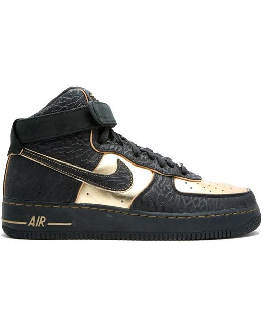 Nike Air Force 1 High Nitro Microphone In Black Black Metallic