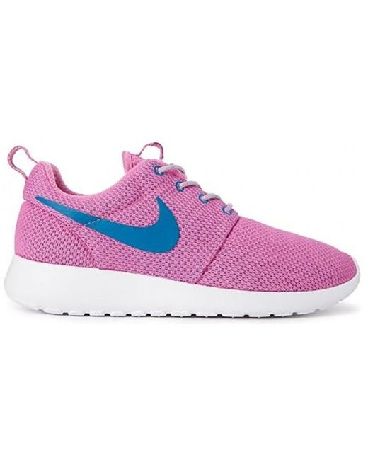 Nike Multicolor Roshe Run Red Violet Green Abyss (w)