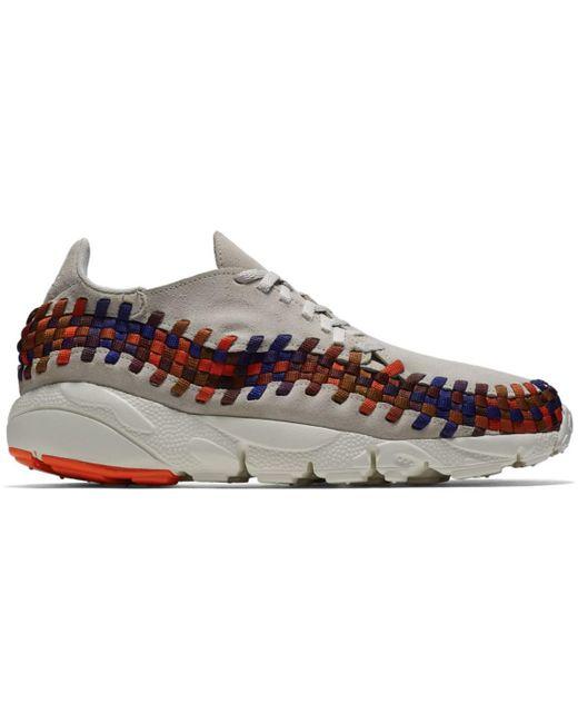 Nike Gray Air Footscape Woven Light Bone Rainbow for men