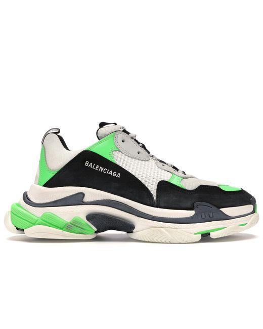メンズ Balenciaga Triple S Green Black