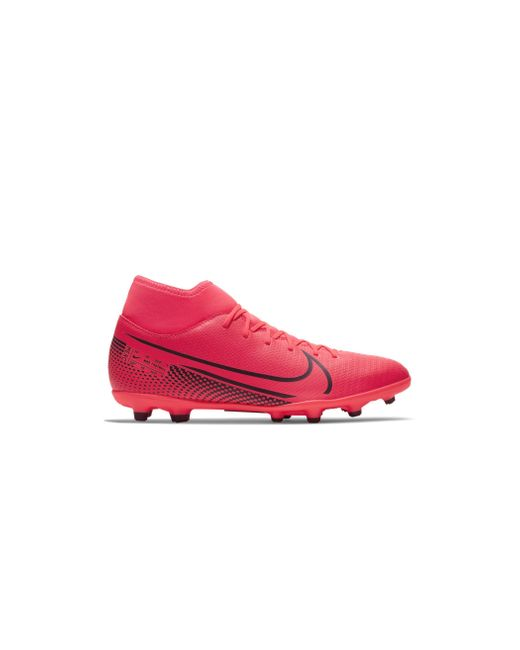 Nike Pink Mercurial Superfly 7 Club Mg Multi-ground Soccer Cleat (laser Crimson) - Clearance Sale for men