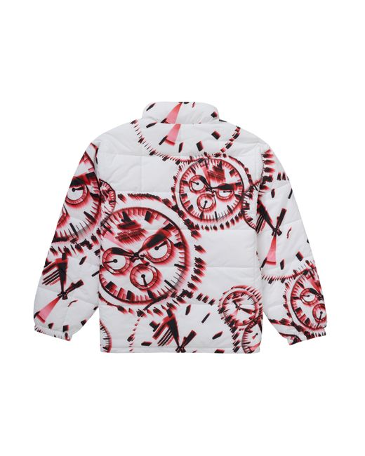 Supreme White Watches Reversible Puffy Jacket for men