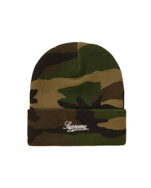 Supreme Green Ny Patch Beanie