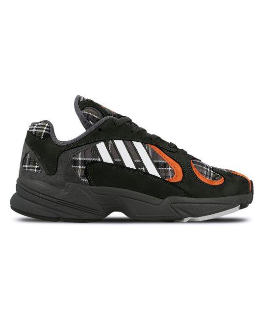 Adidas Gray Yung-1 Orange Plaid for men