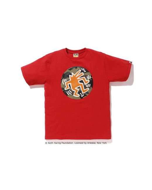 f30deb20d Lyst - A Bathing Ape Keith Haring Tee 5 Red in Red for Men