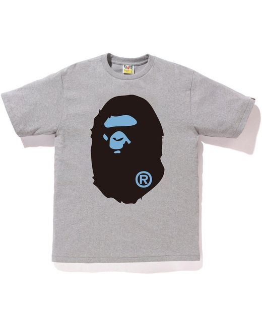 82f9caf4 A Bathing Ape Colors Big Ape Head Tee (ss18) Gray in Gray for Men - Lyst