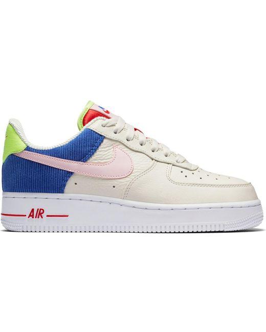 Nike Blue Air Force 1 Low Corduroy (w)