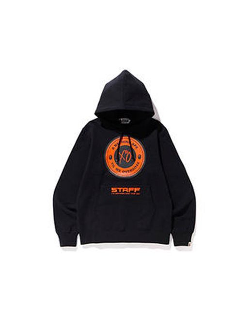 A Bathing Ape Black X Xo Asia Staff Busy Works Pullover Hoodie for men