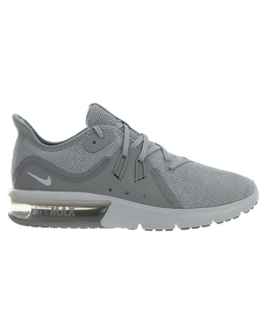 Nike Gray Air Max Sequent 3 Wolf Grey White-pure Platinum for men