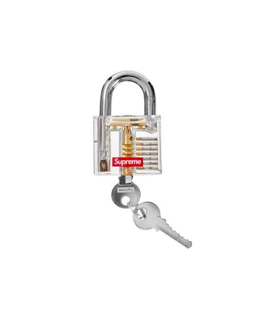 Supreme White Transparent Lock