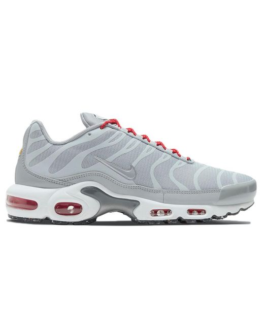Nike Gray Air Max Plus Grey Red for men