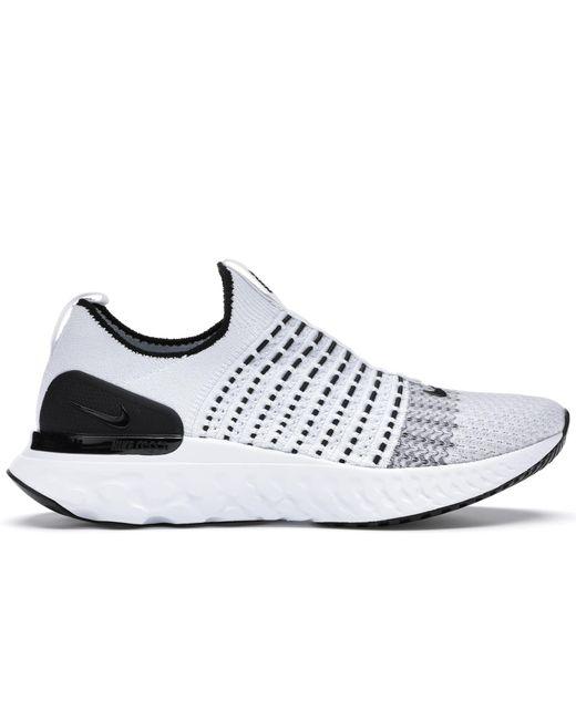 Nike React Phantom Run Flyknit 2 White Black for men
