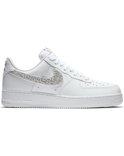 Men's Air Force 1 Low Just Do It Pack White Clear