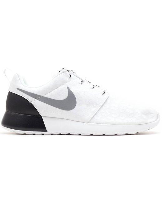 Nike White Roshe Run Glow-in-the-dark Leopard (w)