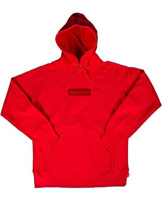 2ae53a57972a Lyst - Supreme Box Logo Pullover Hoodie Red in Red for Men