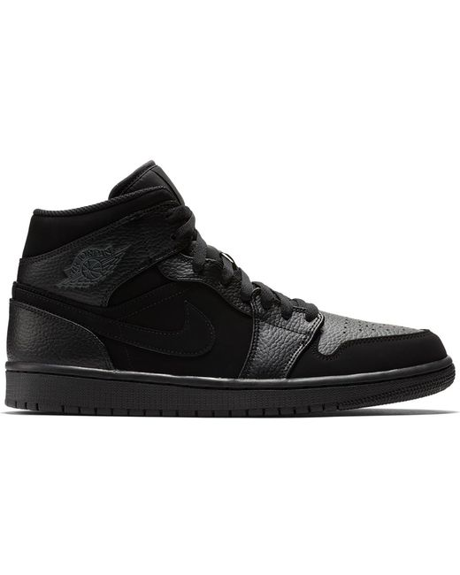 Nike 1 Mid Black Dark Smoke Grey for men