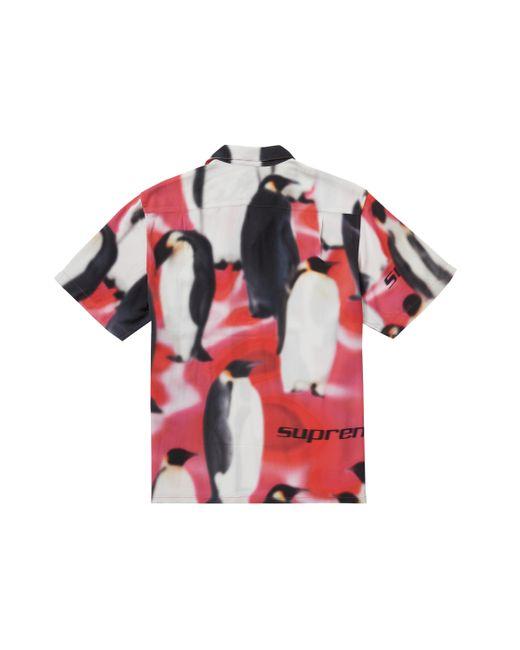 Supreme Pink Penguins Rayon S/s Shirt for men
