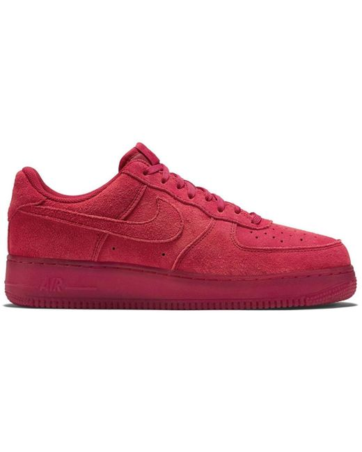 temperament shoes high fashion lace up in Air Force 1 Low Gym Red