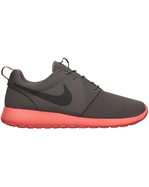 Straßenstil | Nike Roshe Run Suede Schwarz Anthracite Siren Rot Herren