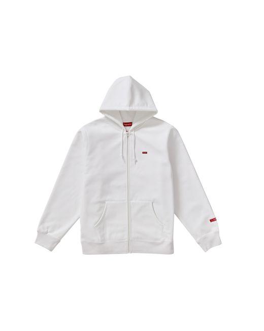 メンズ Supreme Windstopper Zip Up Hooded Sweatshirt White