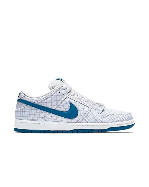 Nike Blue Sb Dunk Low Graph Paper for men