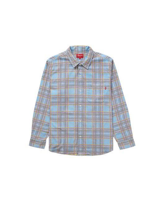 Supreme Blue Printed Plaid Shirt for men