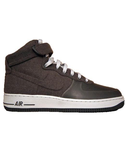Nike Gray Air Force 1 High Vt Midnight Fog Wool for men