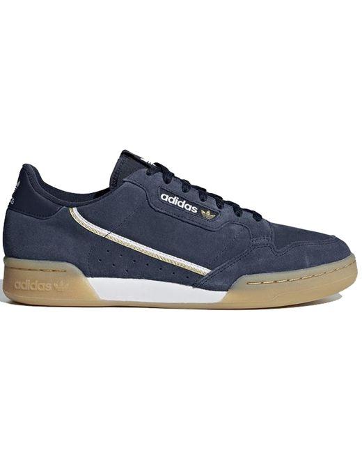 Adidas Blue Continental 80 Collegiate Navy Gum for men