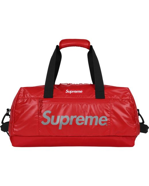 fe8baea8e469 Lyst - Supreme Duffle Bag Red in Red for Men