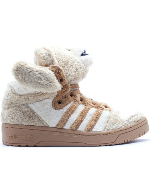 Adidas Natural Js Bear Jeremy Scott Teddy Bear (brown) for men