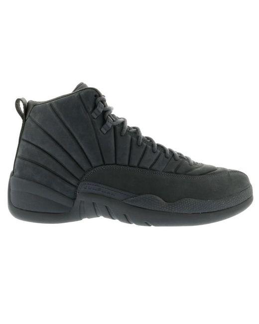 メンズ Nike 12 Retro Psny Gray