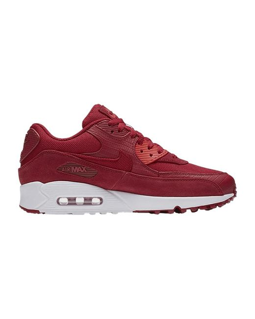 Men's Air Max 90 Premium Gym Red