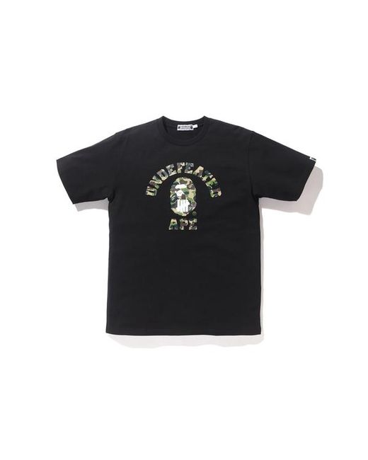 eaac617e A Bathing Ape - X Undefeated Abc College Tee Black/green for Men - Lyst