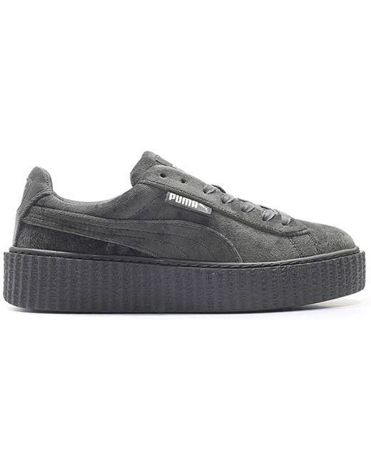 separation shoes a625a deb5b Women's Creeper Velvet Rihanna Fenty Glacier Gray (w)