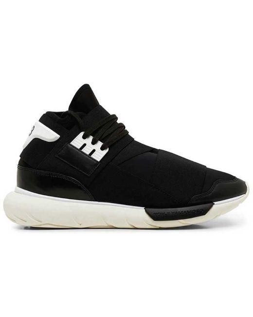 Estragos gesto habilitar  adidas Y-3 Qasa High Black White for Men - Lyst
