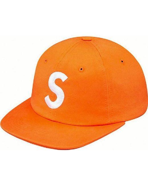 40f7519ef86 Supreme - S Logo 6 Panel Orange for Men - Lyst. View fullscreen