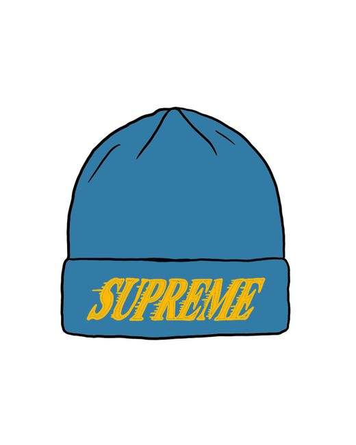Supreme Blue Crossover Beanie