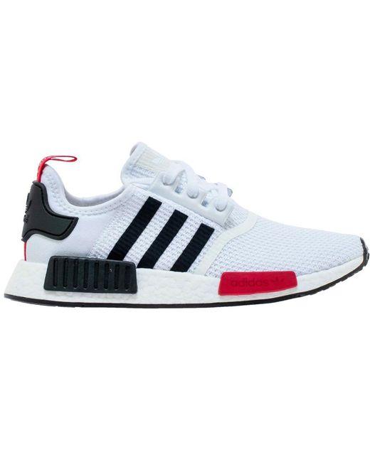 wholesale dealer 15522 1134b Men's Nmd R1 White Black Red