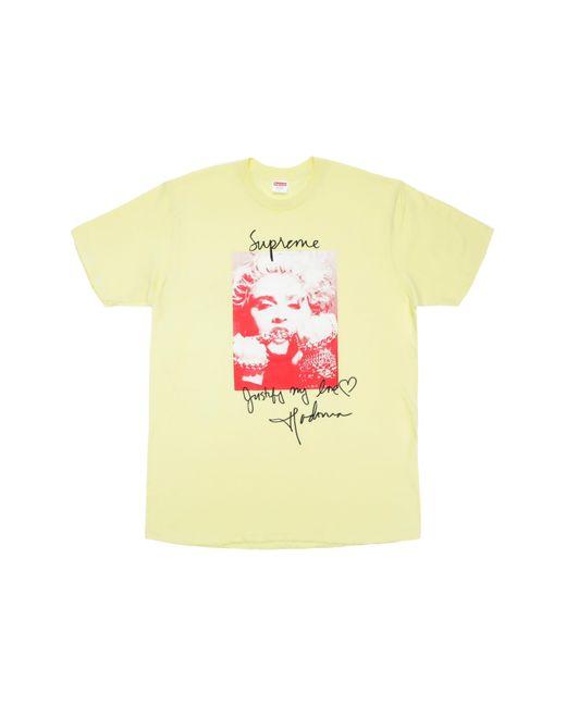 Supreme Yellow Madonna Tee for men